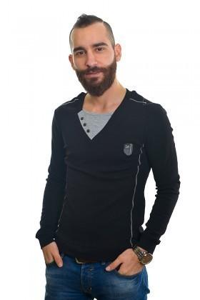 DAS Siyah DS-201UK314 Erkek Sweatshirt