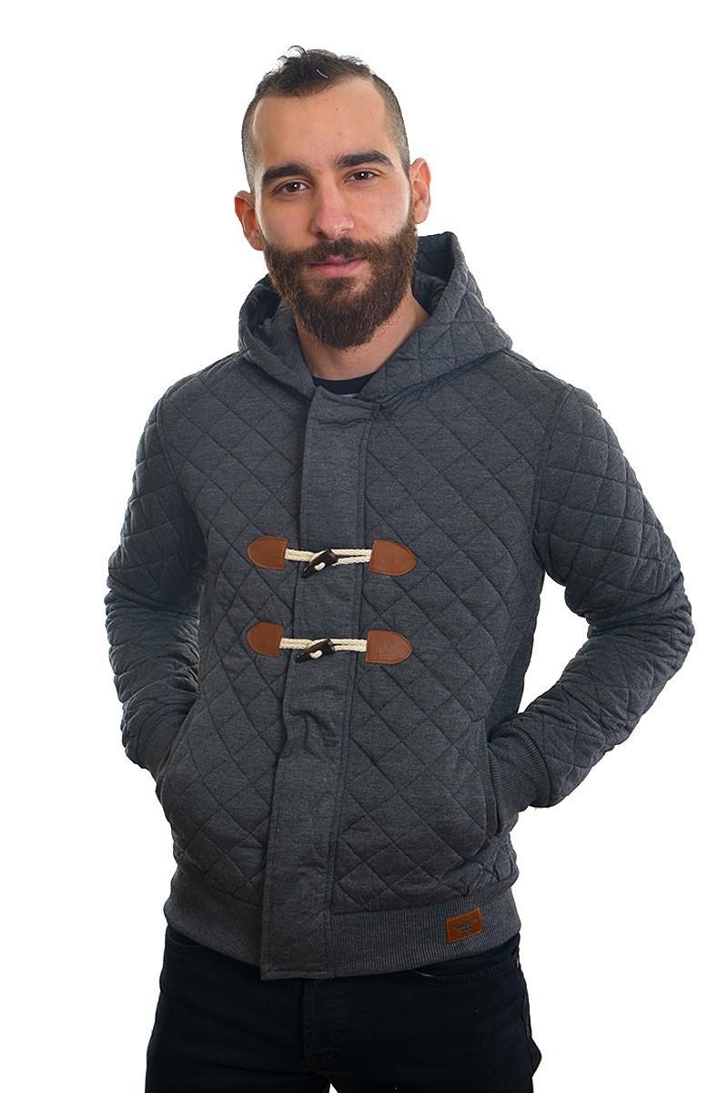 DAS Gri Melanj DS-SW2404 Kapşonlu Erkek Sweatshirt