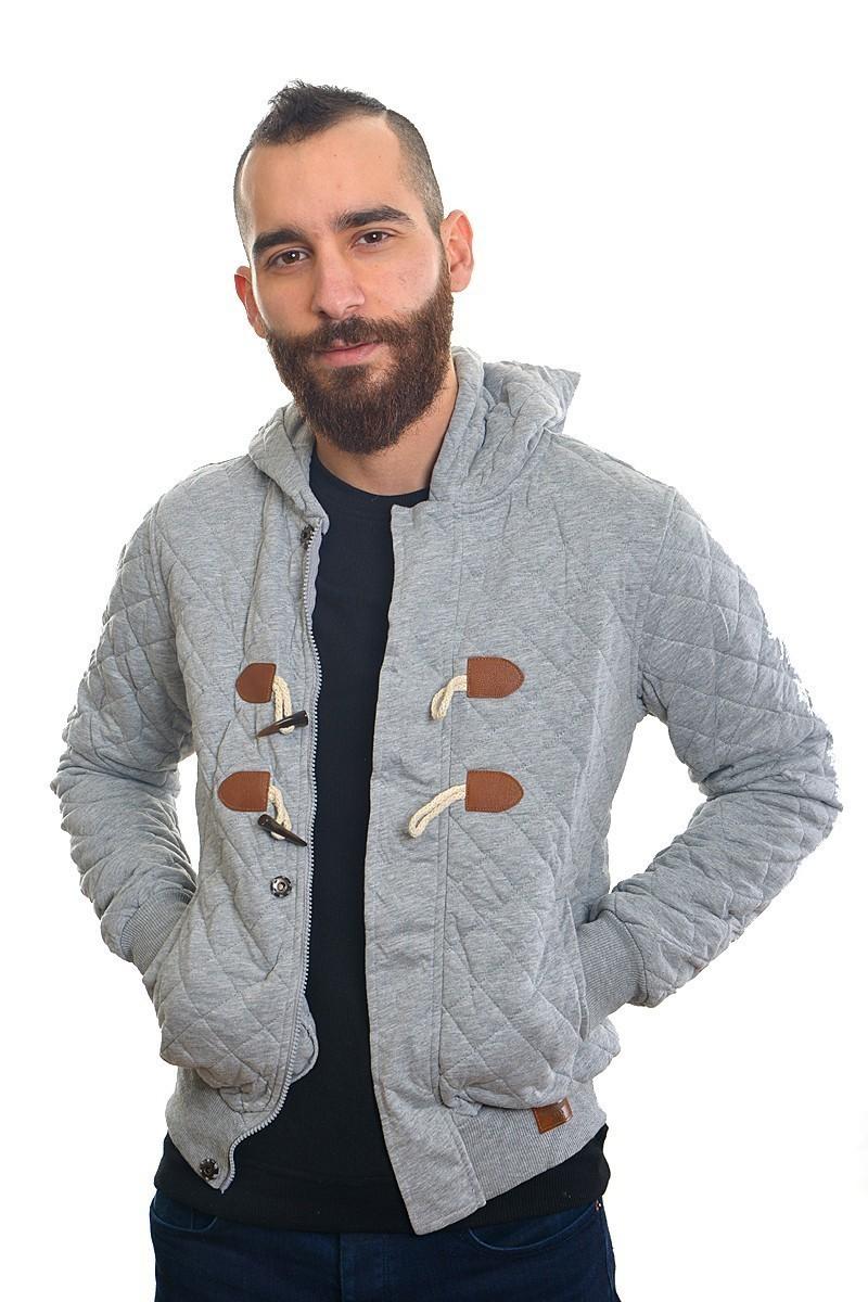DAS Gri DS-SW2404 Kapşonlu Erkek Sweatshirt