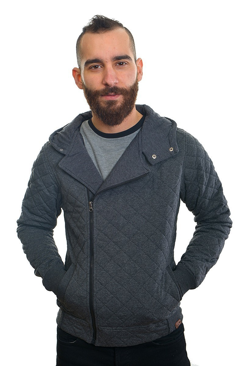 DAS Gri Melanj DS-7403 Kapşonlu Erkek Sweatshirt