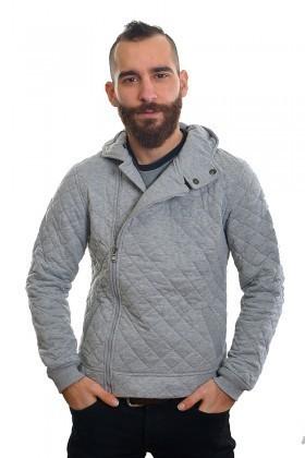 DAS Gri DS-7403 Kapşonlu Erkek Sweatshirt