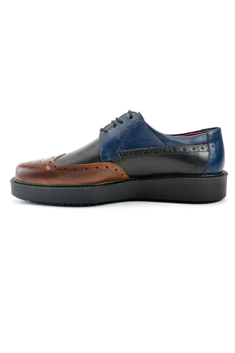 Pandew Siyah-Taba PNDW-7215 Hakiki Deri Erkek Ayakkabı