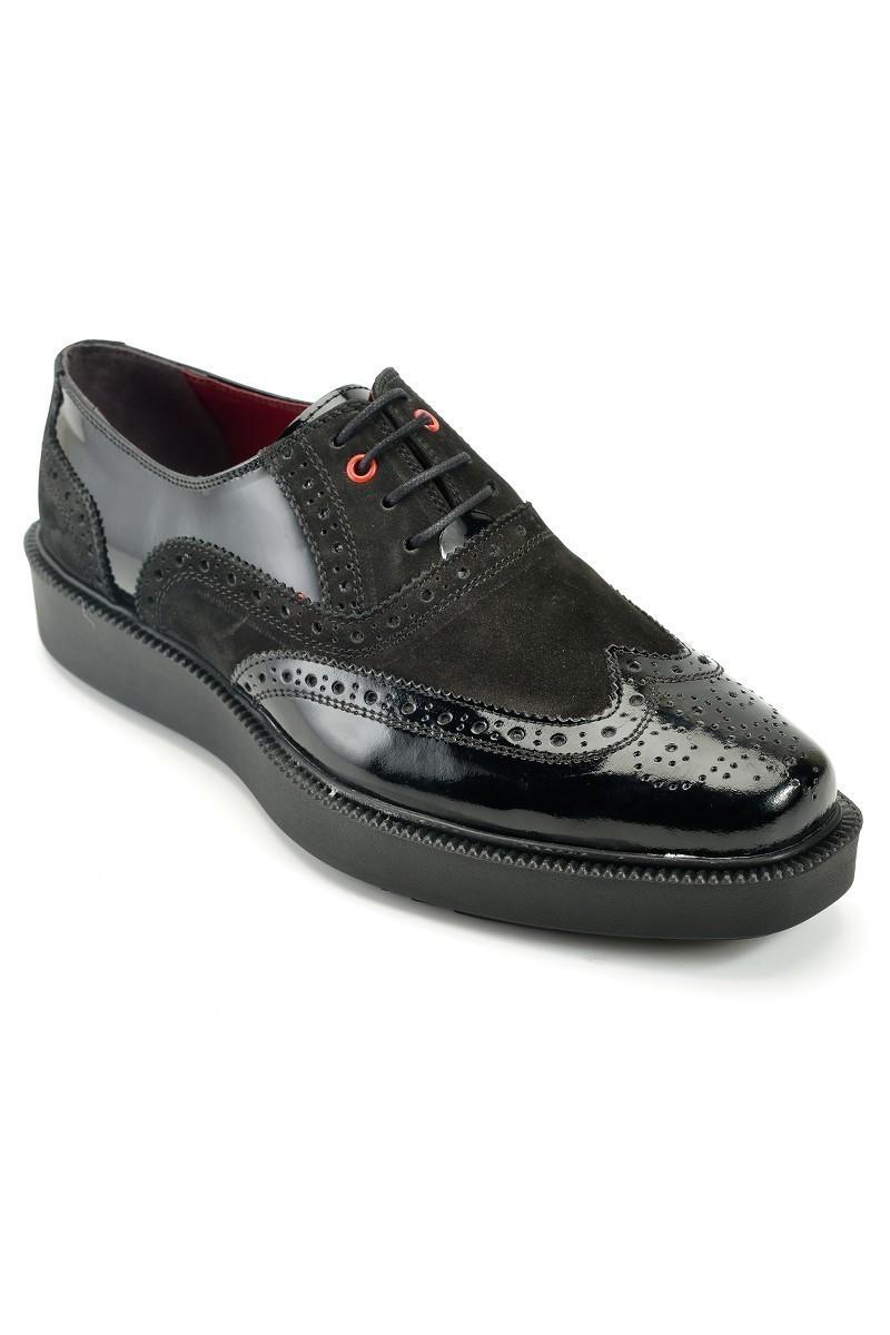 Pandew Siyah PNDW-7214-SUET Hakiki Deri Erkek Ayakkabı