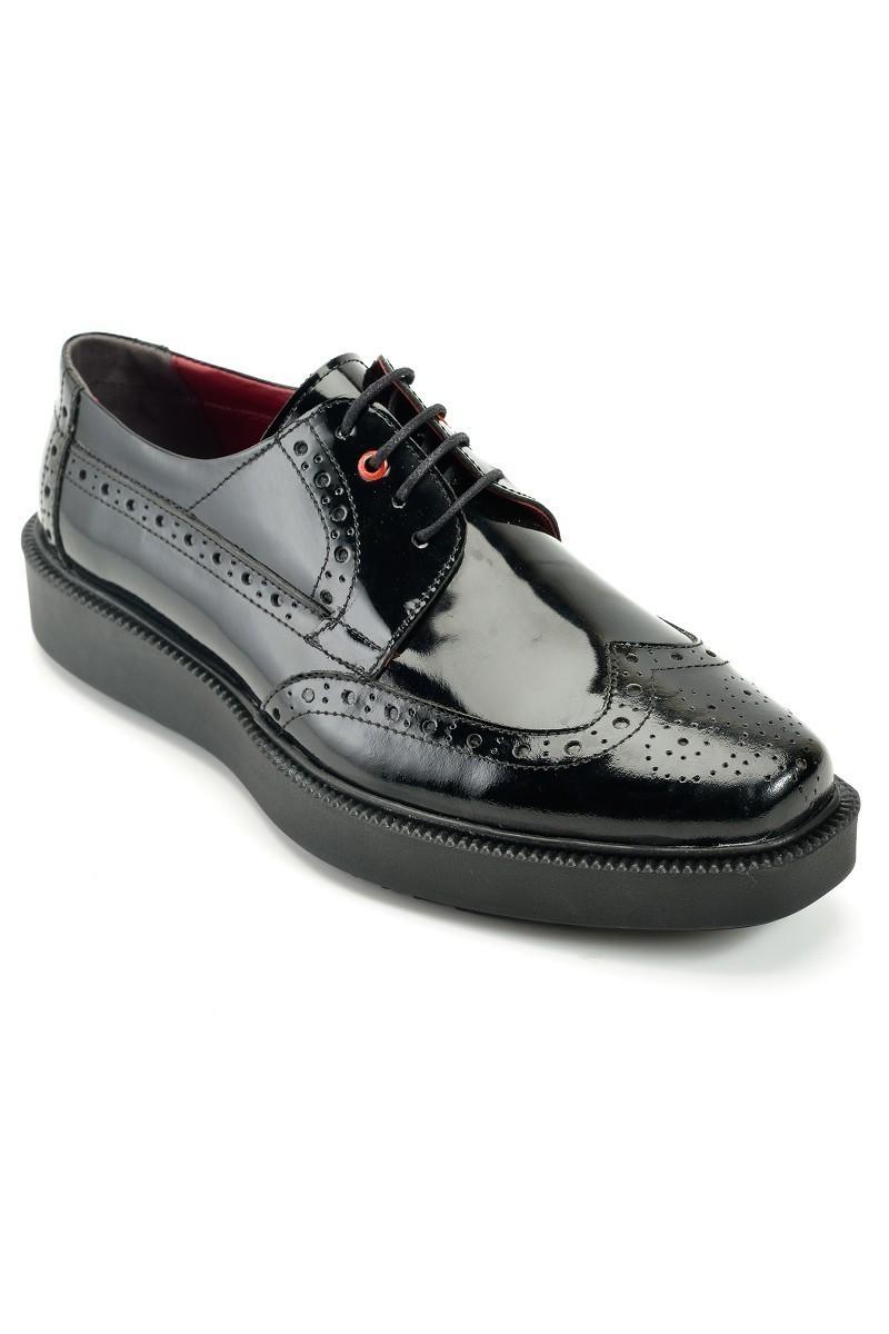 Pandew Siyah PNDW-7215-RGN Hakiki Deri Erkek Ayakkabı