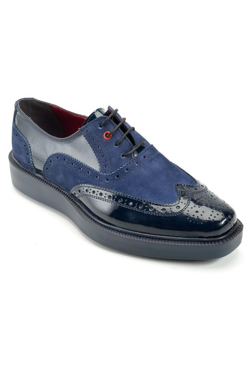 Pandew Lacivert PNDW-7214 Hakiki Deri Erkek Ayakkabı