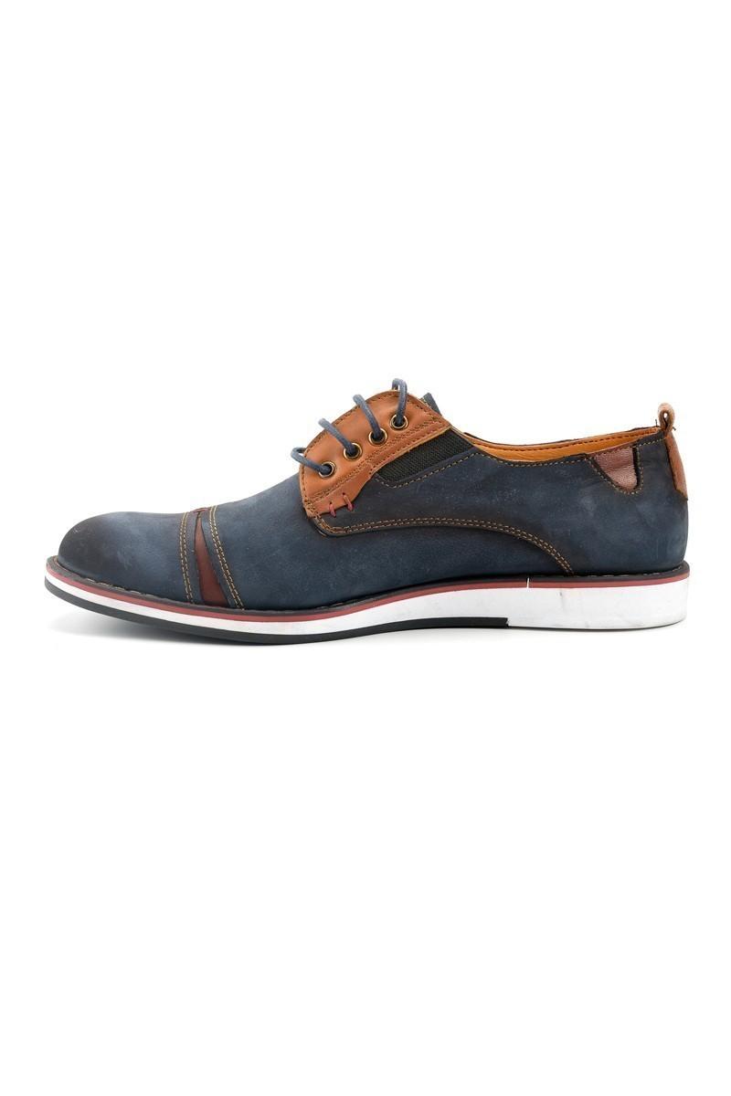 Pandew Lacivert PNDW-623 Hakiki Deri Erkek Ayakkabı