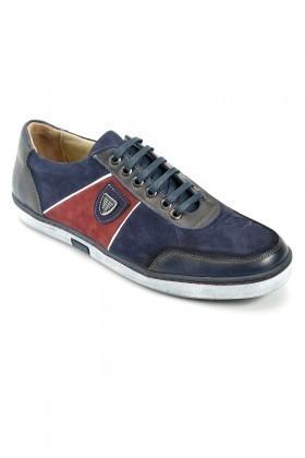 Pandew Lacivert PNDW-556 Hakiki Deri Erkek Ayakkabı