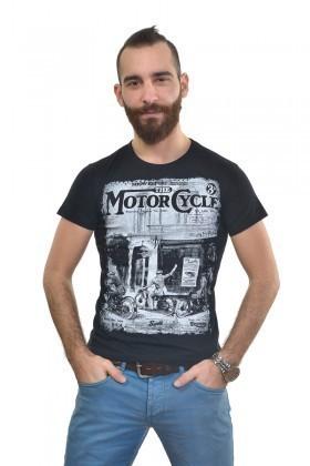 MTT Siyah MTT-308 Erkek Tişört