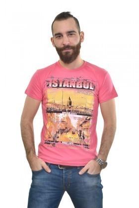 MTT Pembe MTT-306 Erkek Tişört