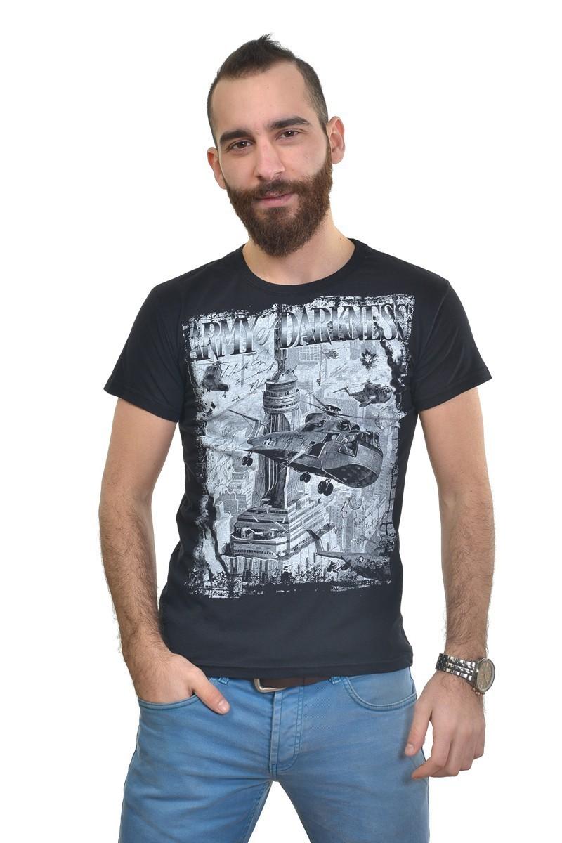 MTT Siyah MTT-303 Erkek Tişört