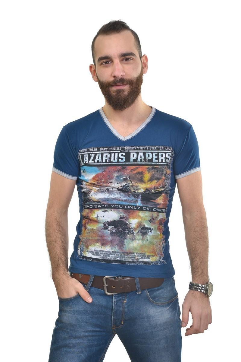 MTT Lacivert MTT-301 Erkek Tişört
