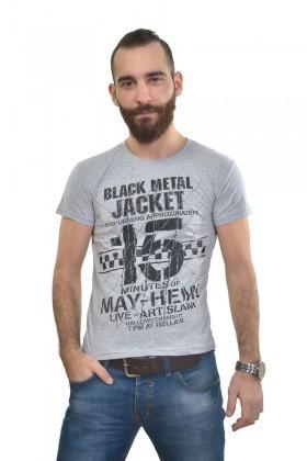 MTT Gri MTT-300 Erkek Tişört