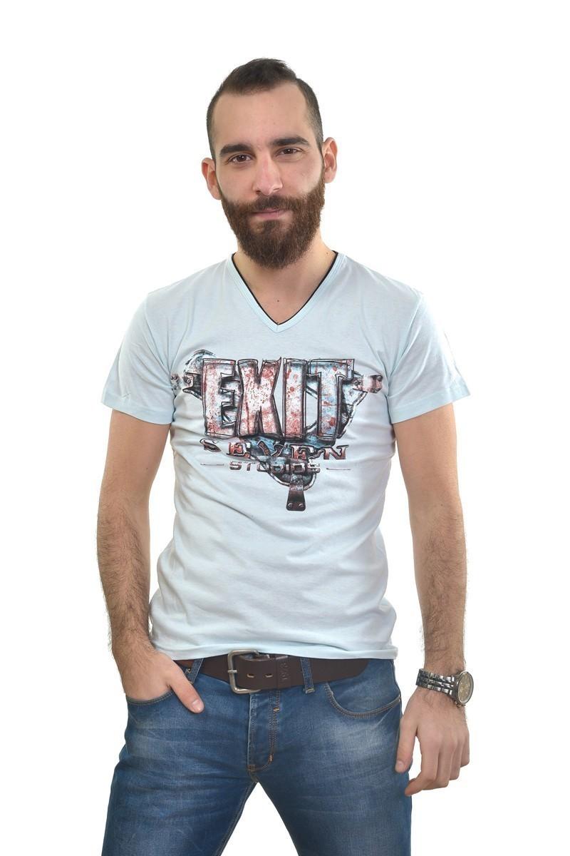 MTT Gök Mavi MTT-299 Erkek Tişört