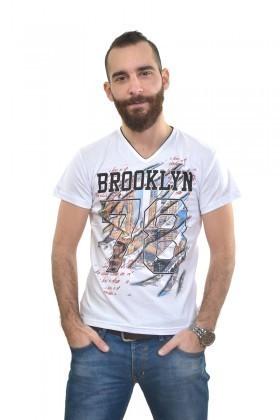 MTT Beyaz MTT-294 Erkek Tişört