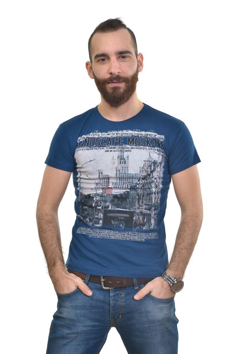 MTT Lacivert MTT-292 Erkek Tişört
