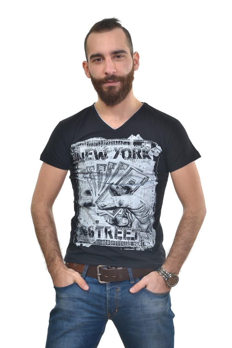MTT Siyah MTT-291 Erkek Tişört