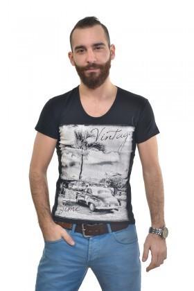 MTT Siyah MTT-281 Erkek Tişört