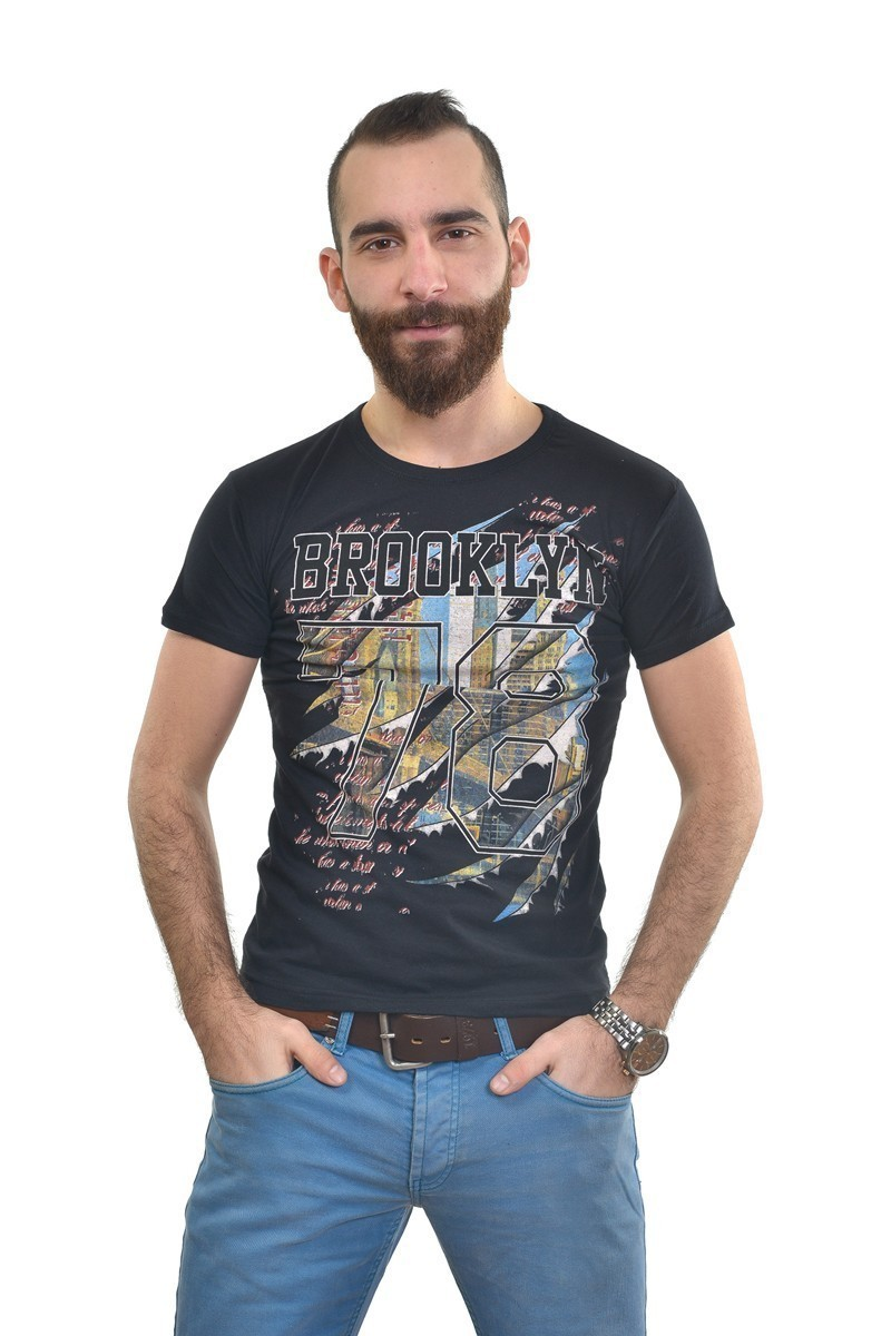 MTT Siyah MTT-280 Erkek Tişört