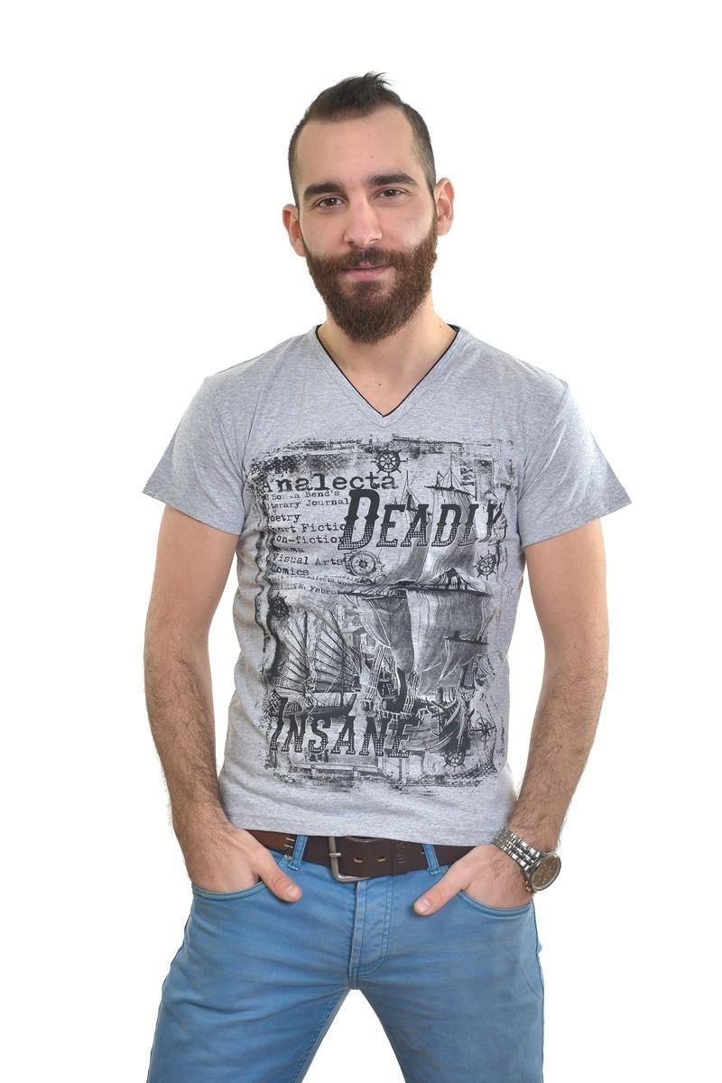 MTT Gri MTT-268 Erkek Tişört
