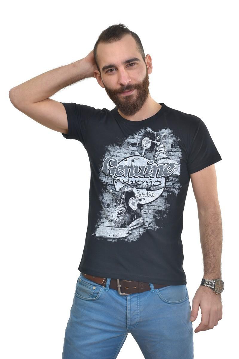 MTT Siyah MTT-266 Erkek Tişört