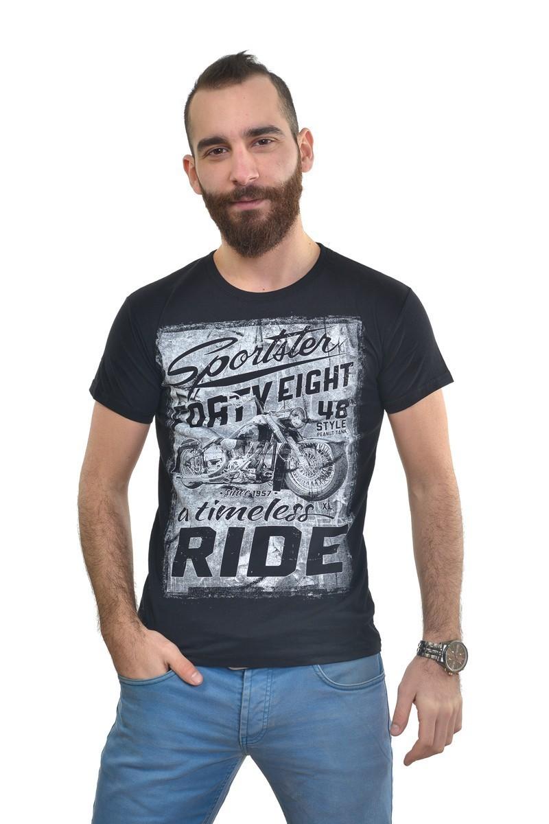 MTT Siyah MTT-265 Erkek Tişört