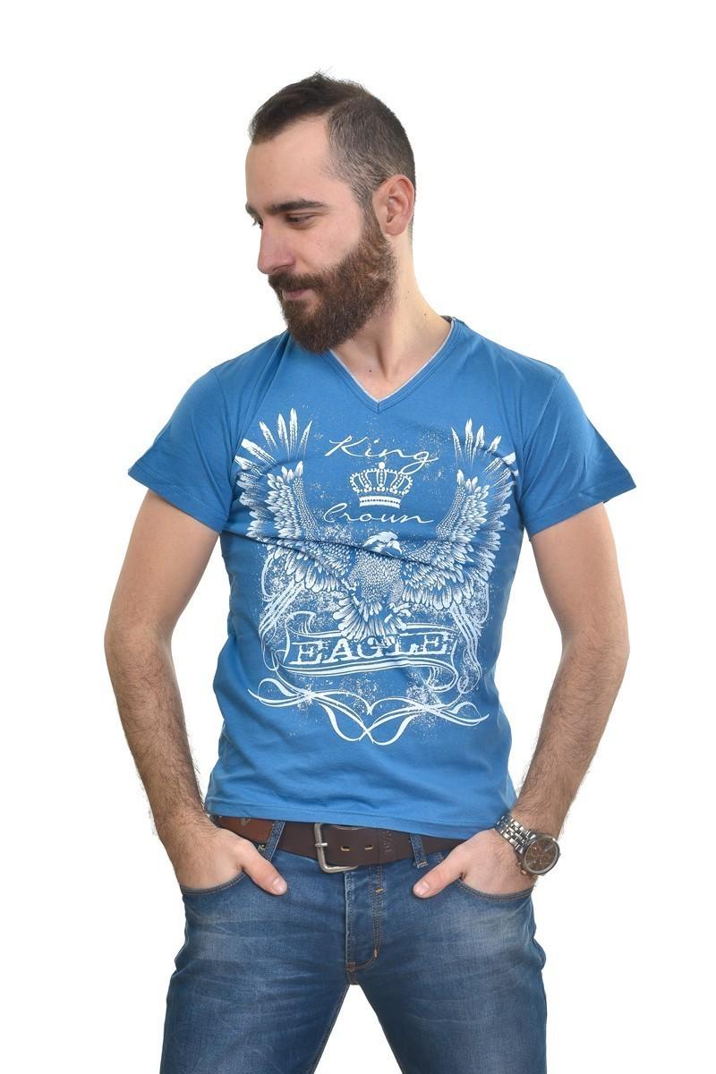 MTT Mavi MTT-263 Erkek Tişört