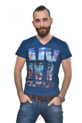 MTT Mavi MTT-261 Erkek Tişört