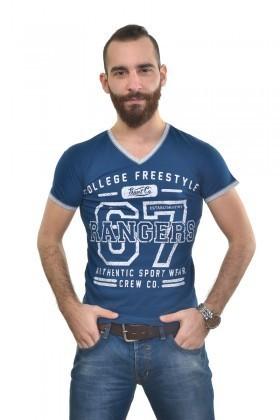 MTT Mavi MTT-260 Erkek Tişört