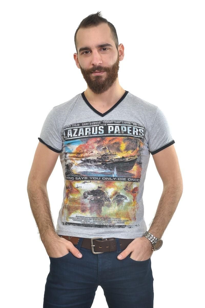 MTT Gri MTT-256 Erkek Tişört