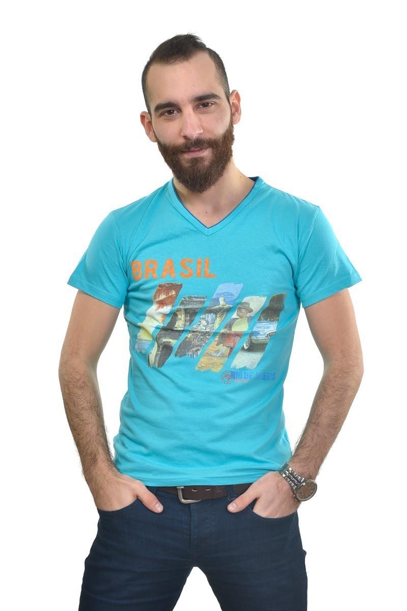 MTT Turkuaz MTT-254 Erkek Tişört