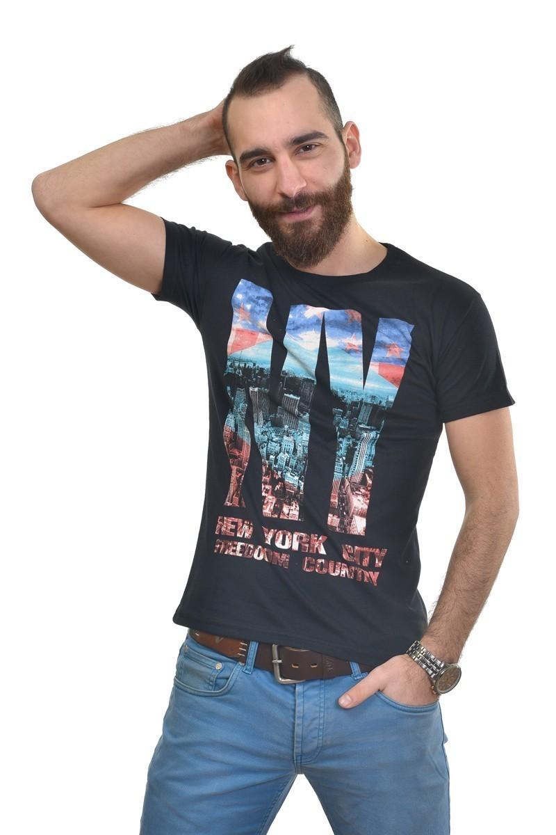 MTT Siyah MTT-251 Erkek Tişört