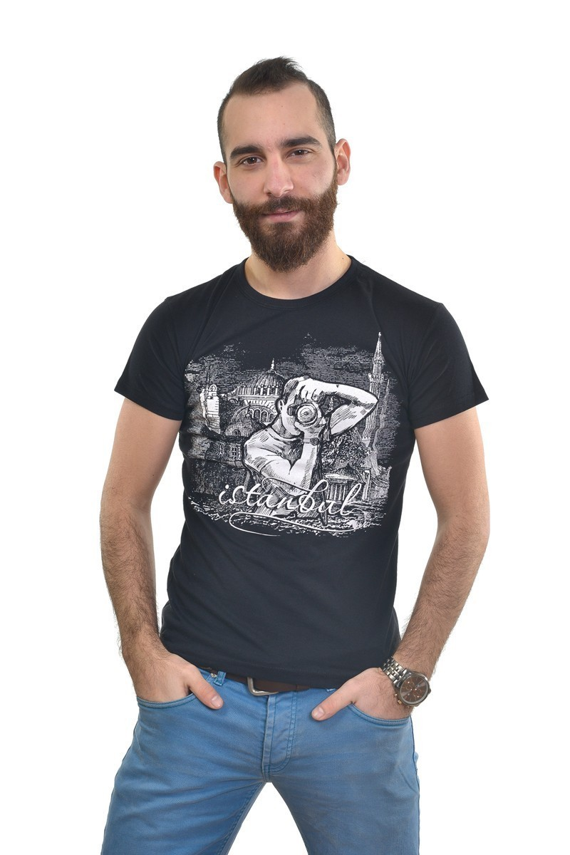 MTT Siyah MTT-249 Erkek Tişört