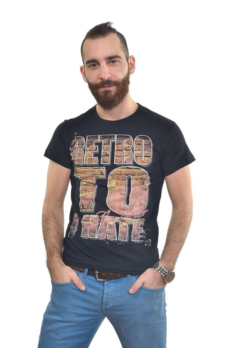 MTT Siyah MTT-248 Erkek Tişört