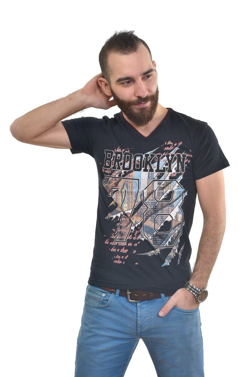 MTT Siyah MTT-247 Erkek Tişört