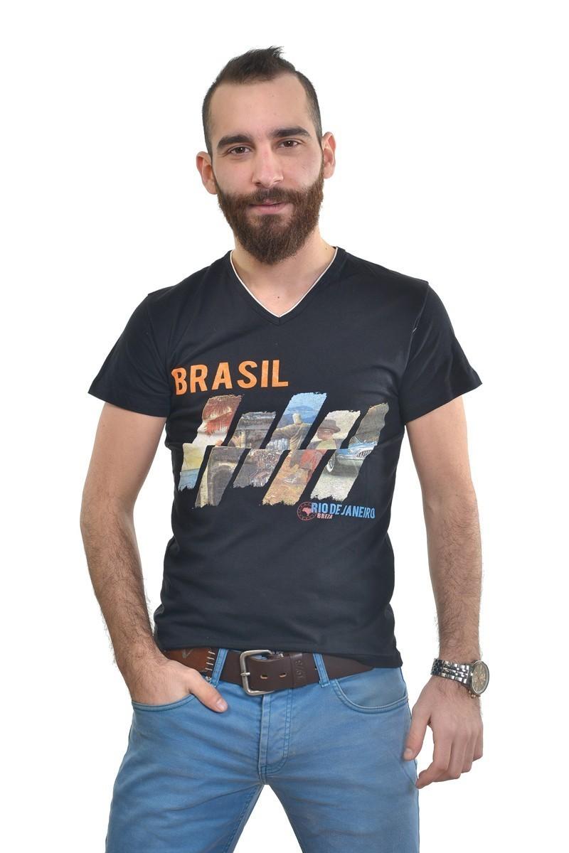 MTT Siyah MTT-245 Erkek Tişört
