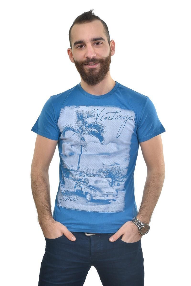 MTT Mavi MTT-242 Erkek Tişört