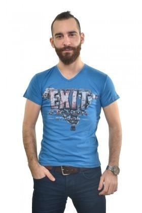 MTT Mavi MTT-236 Erkek Tişört