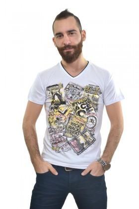 MTT Beyaz MTT-231 Erkek Tişört