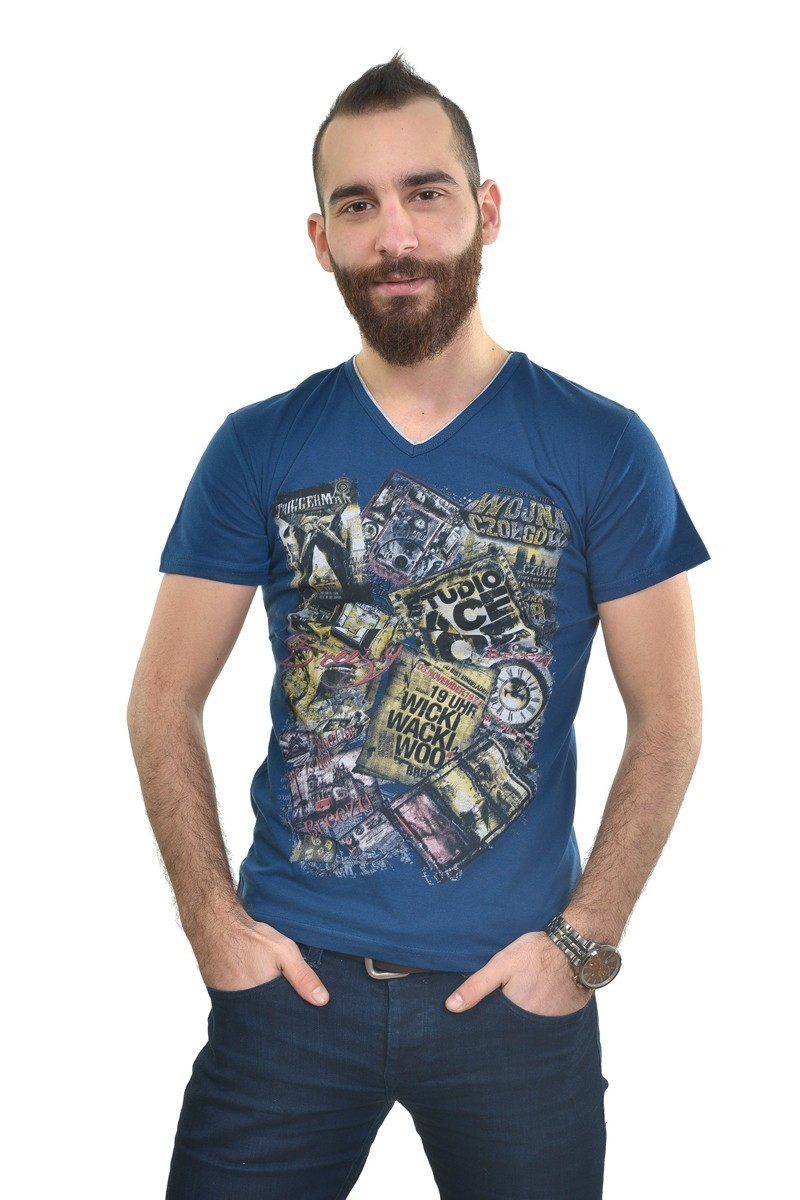 MTT Lacivert MTT-230 Erkek Tişört