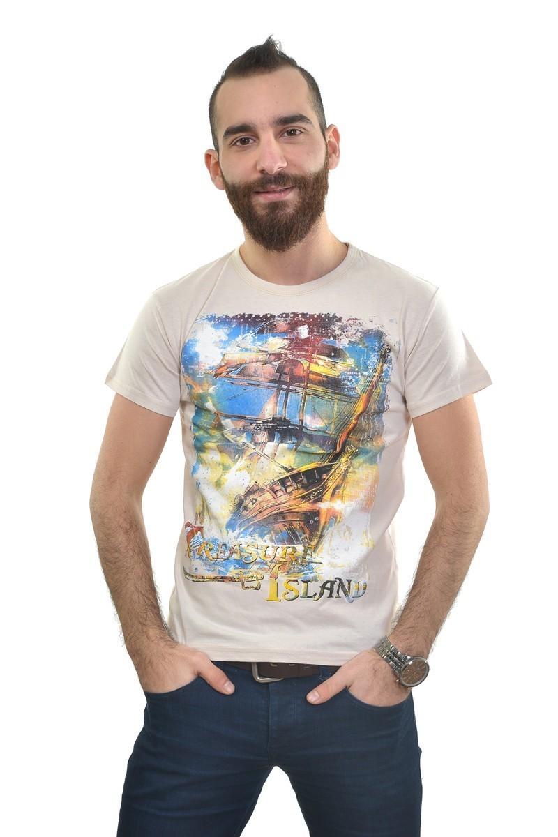 MTT Krem MTT-229 Erkek Tişört