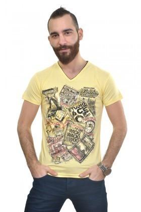 MTT Sarı MTT-228 Erkek Tişört