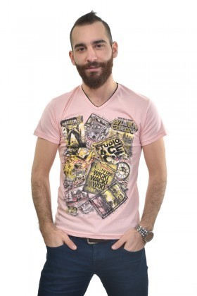 MTT Pembe MTT-227 Erkek Tişört