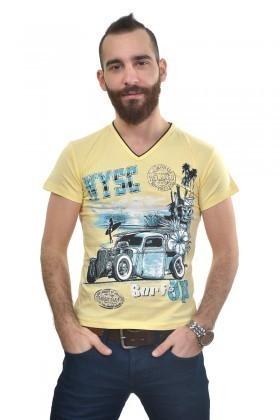 MTT Sarı MTT-225 Erkek Tişört