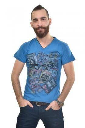MTT Mavi MTT-223 Erkek Tişört