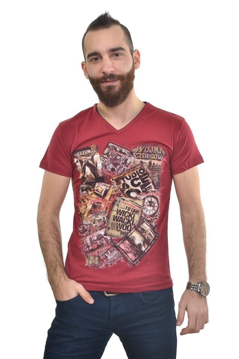 MTT Bordo MTT-222 Erkek Tişört