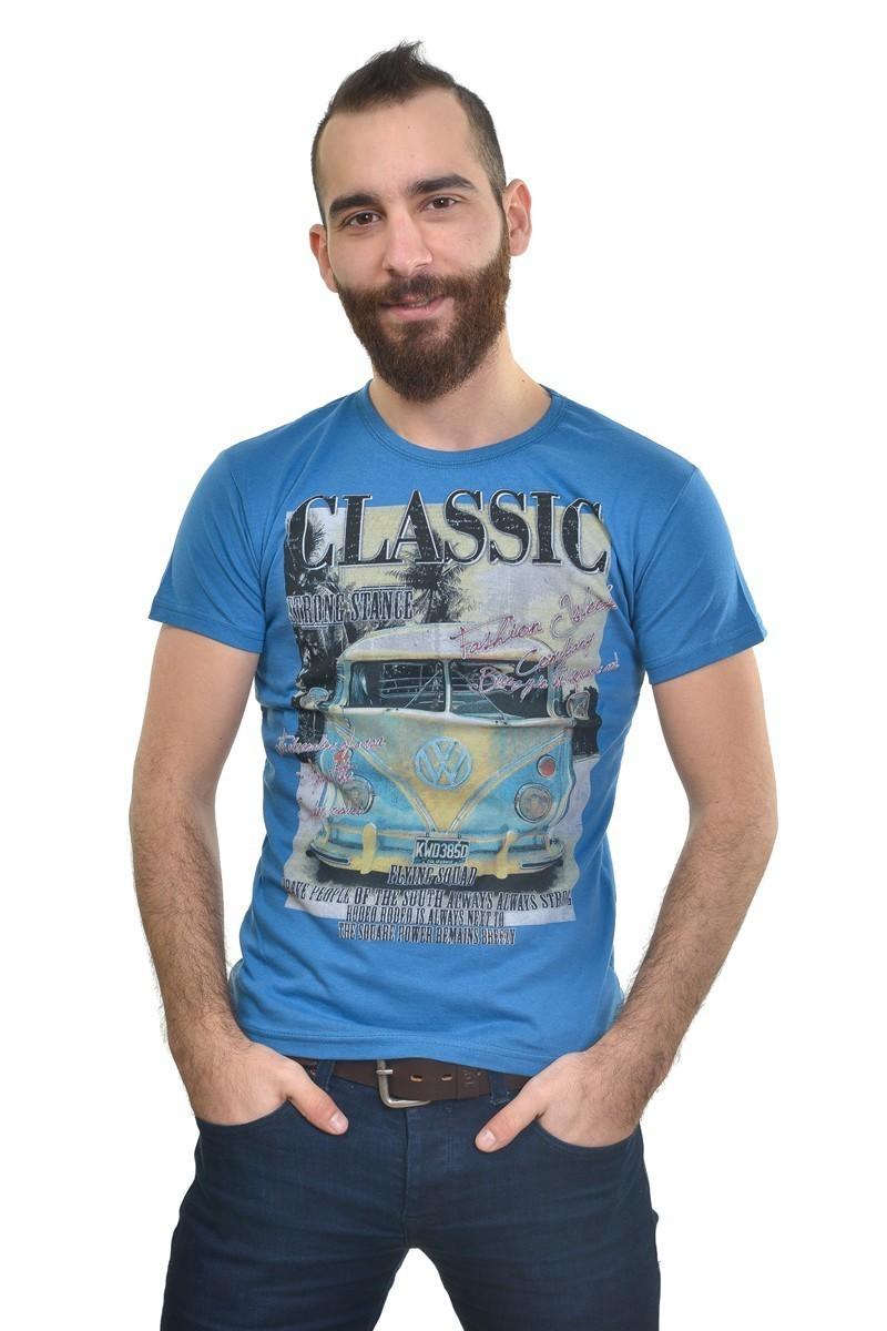 MTT Mavi MTT-219 Erkek Tişört