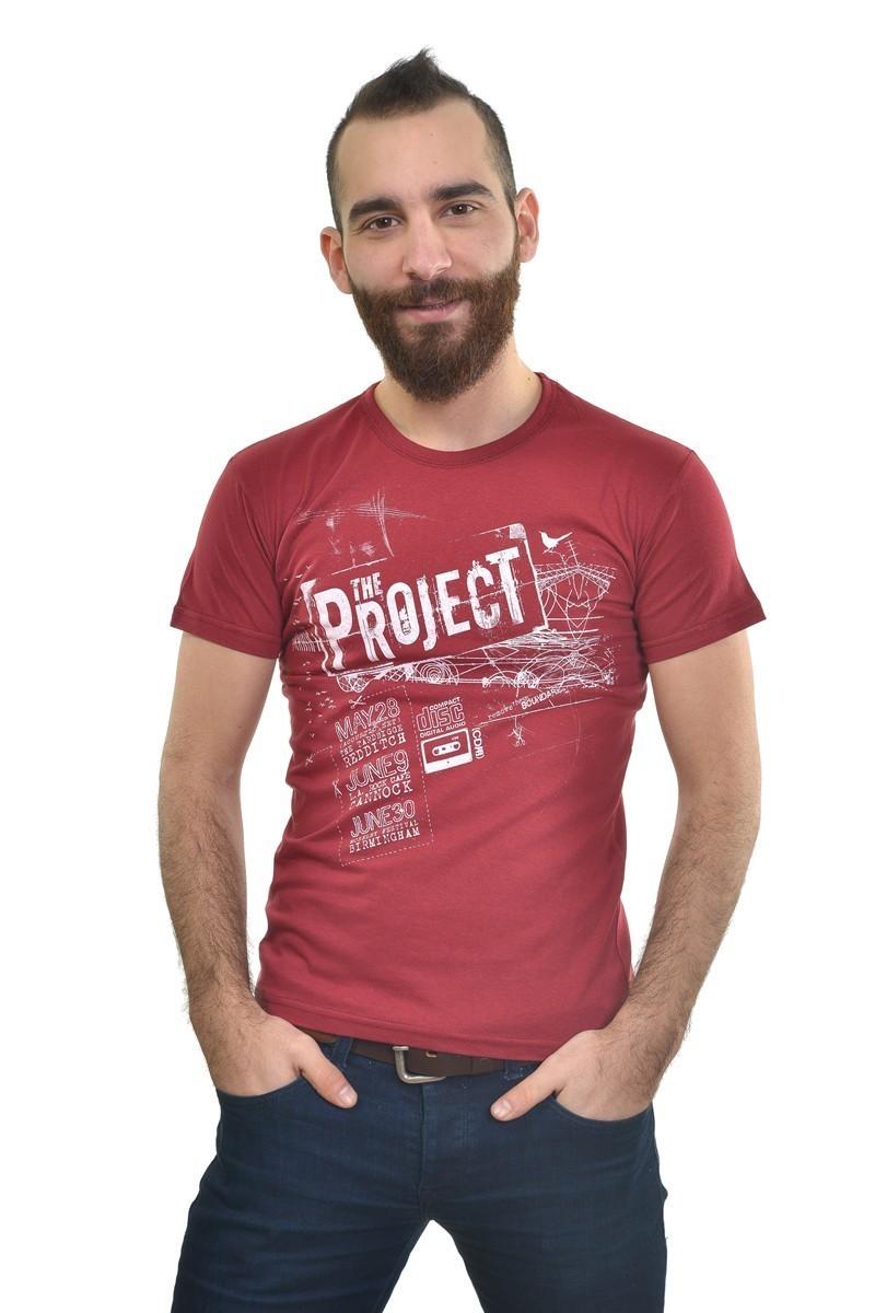 MTT Bordo MTT-218 Erkek Tişört