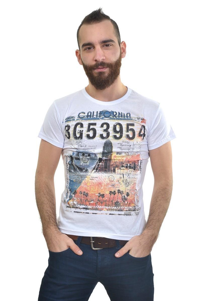 MTT Beyaz MTT-216 Erkek Tişört