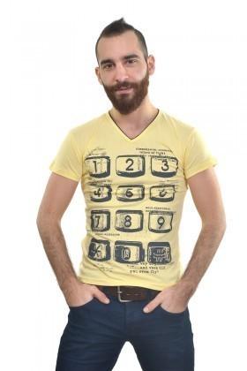 MTT Sarı MTT-215 Erkek Tişört