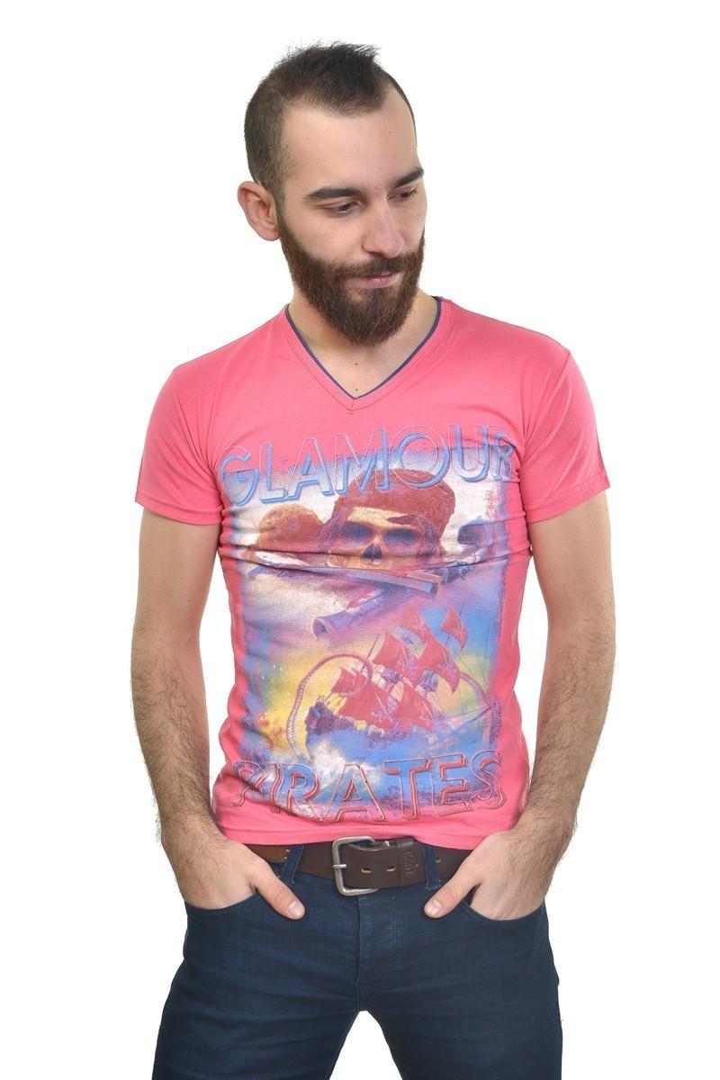 MTT Pembe MTT-211 Erkek Tişört